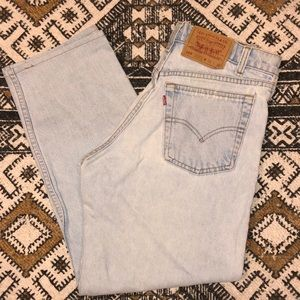 Vintage 90's Levi's 555 relaxed fit straight leg